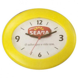 Relógio de Parede Oval
