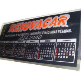 Calendário em PVC